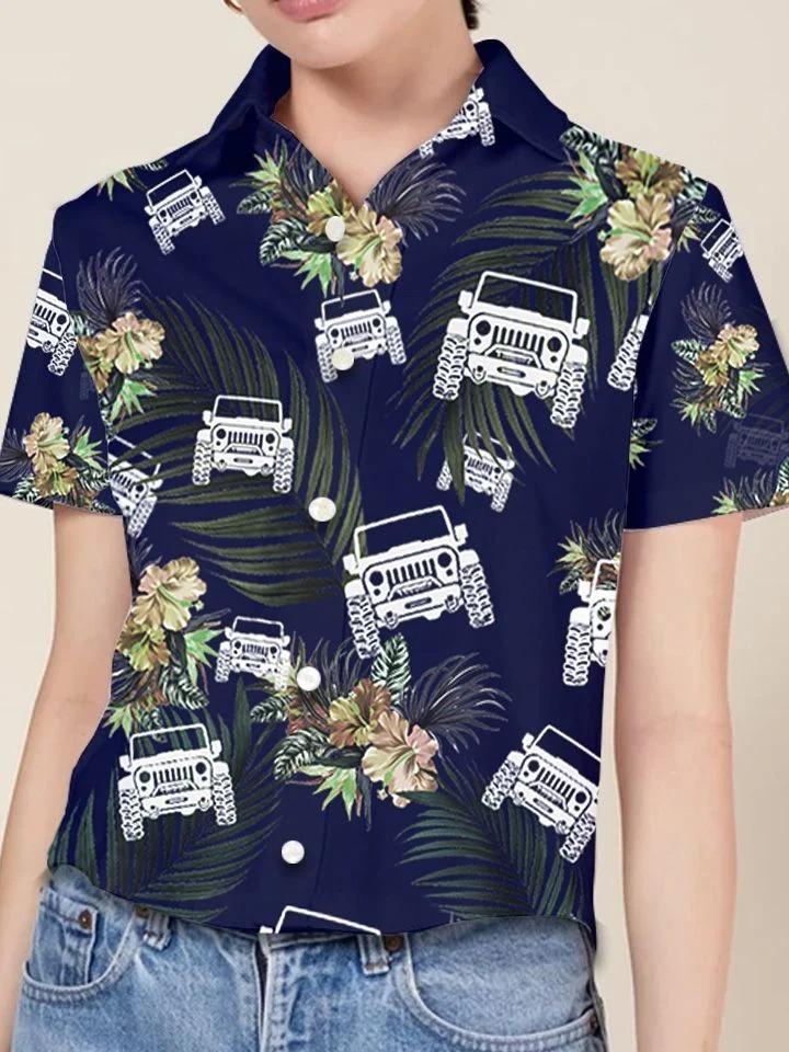 Jeep tropical hawaiian shirt4