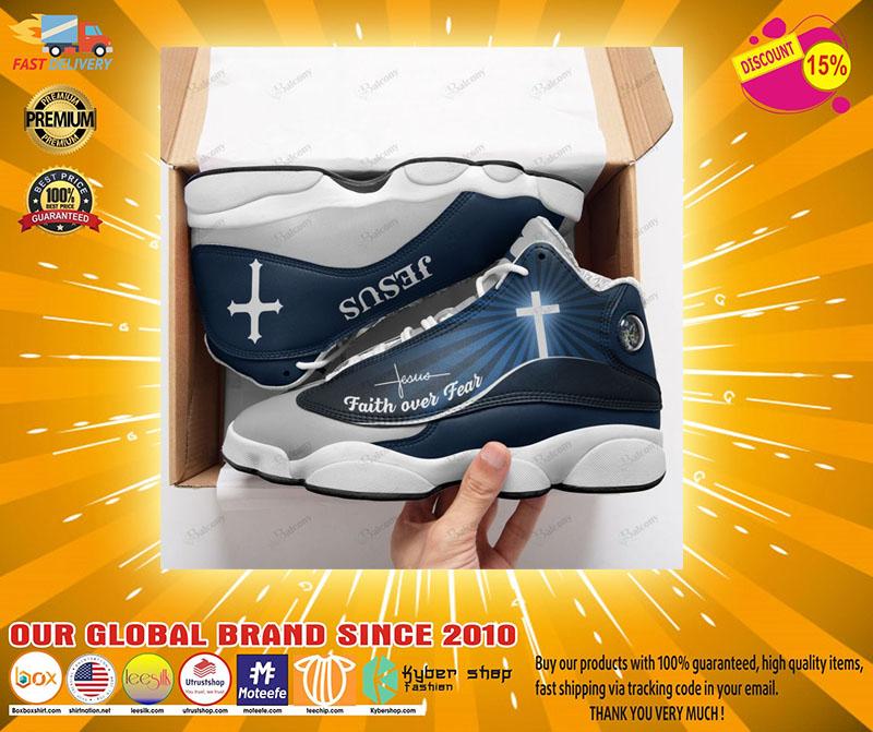 Jesus faith over fear air jordan sneaker2