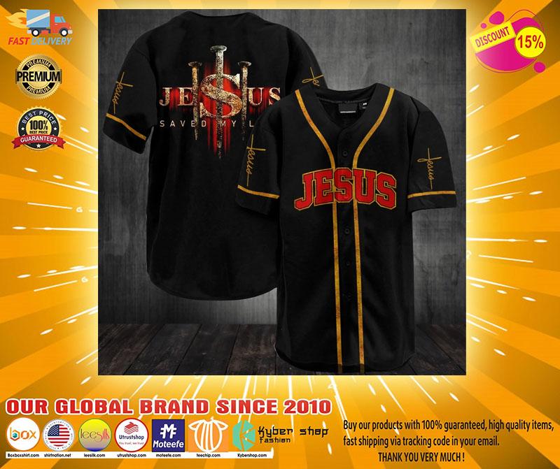 Jesus saved my life baseball jersey shirt2