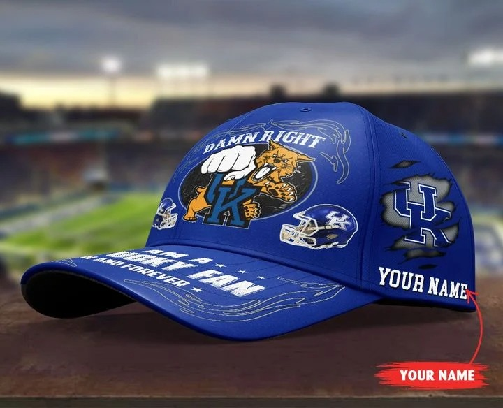 Kewi Damn right I am a Kentucky fan now and forever custom cap4