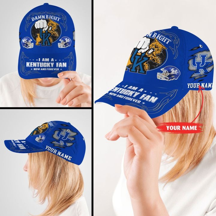 Kewi Damn right I am a Kentucky fan now and forever custom cap2