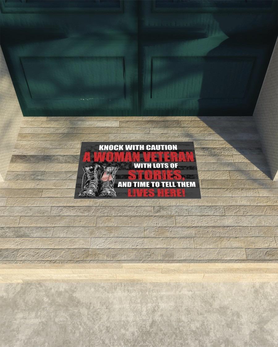 Knock with caution a woman veteran doormat4