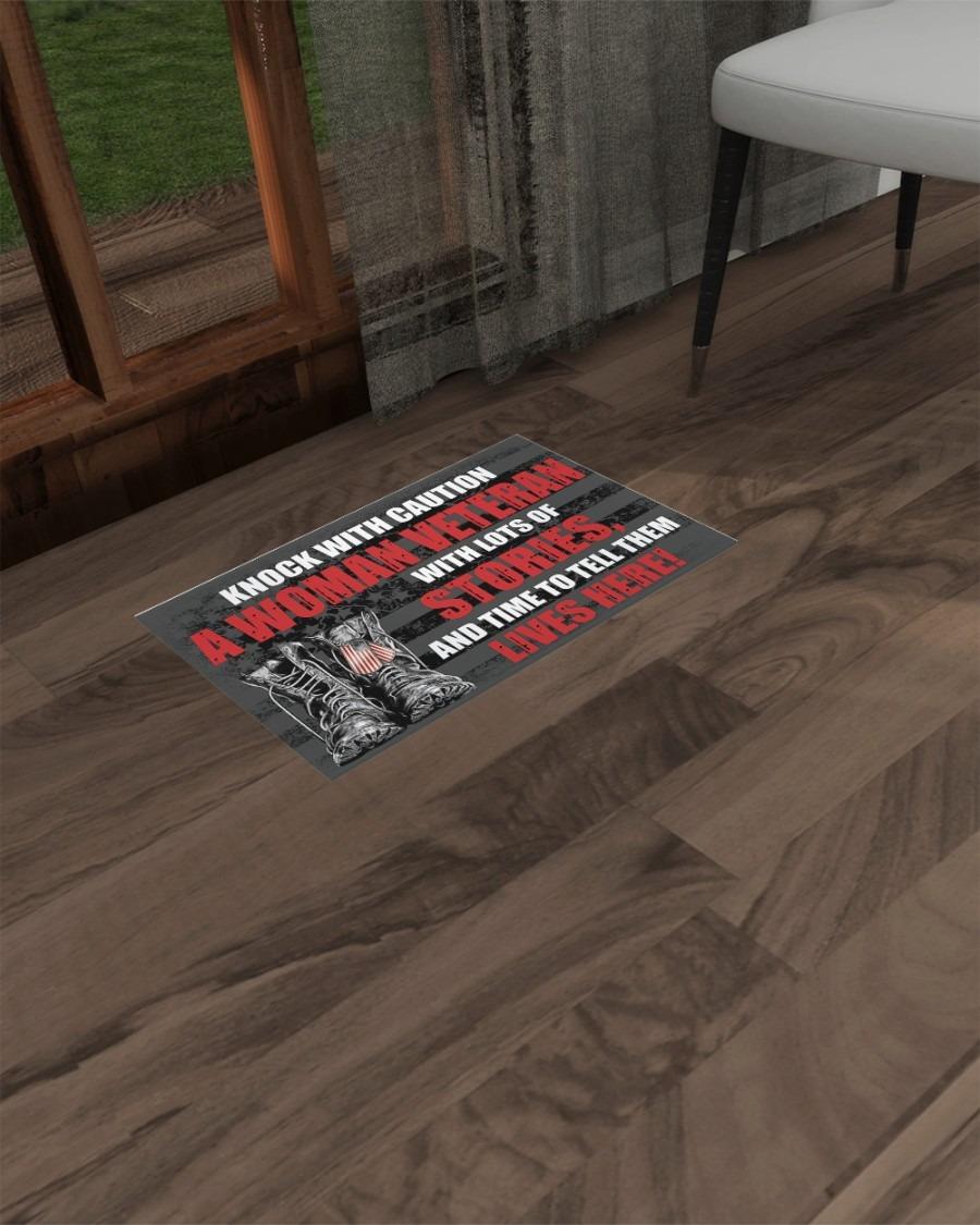 Knock with caution a woman veteran doormat2