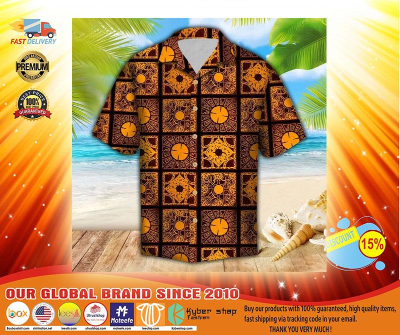 Lemar pattern hawaiian shirt3