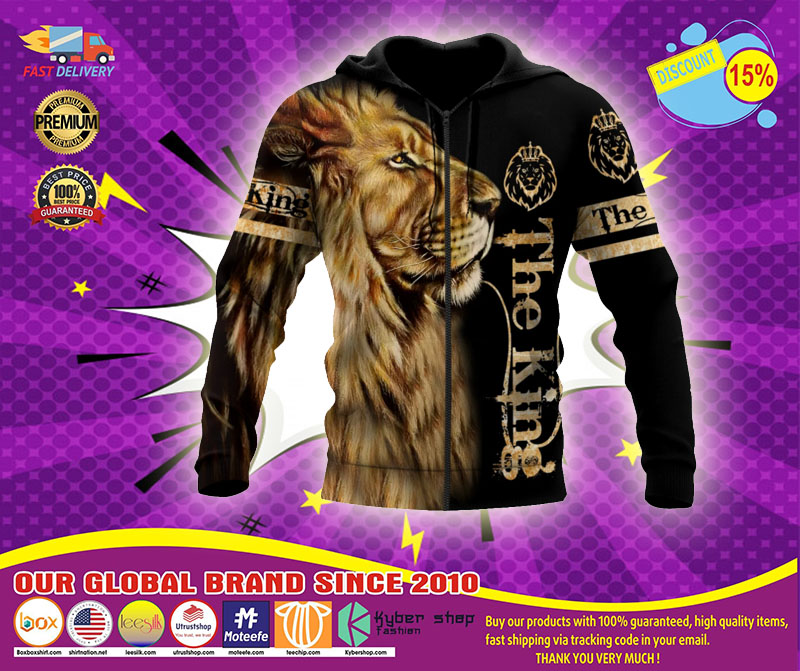 Lion the king 3D over print hoodie1