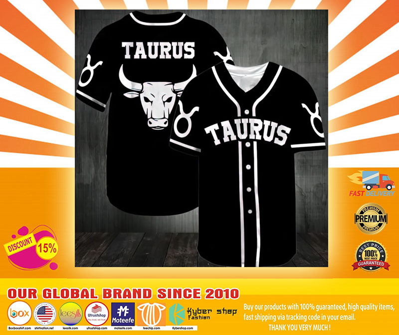 Zodiac Taurus Baseball Jersey4