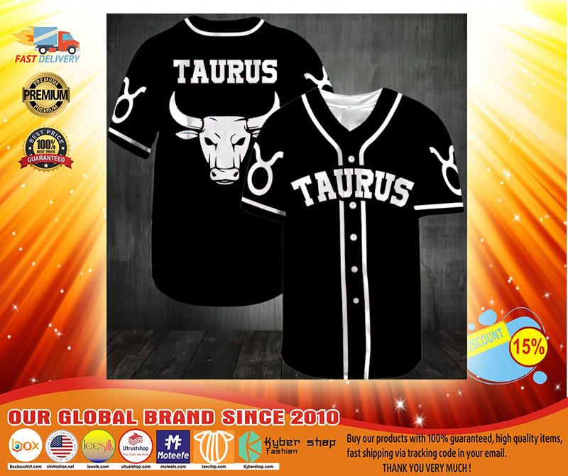 Zodiac Taurus Baseball Jersey3