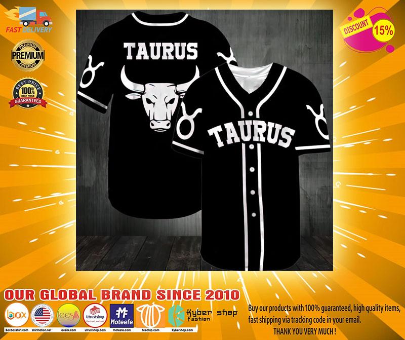 Zodiac Taurus Baseball Jersey2
