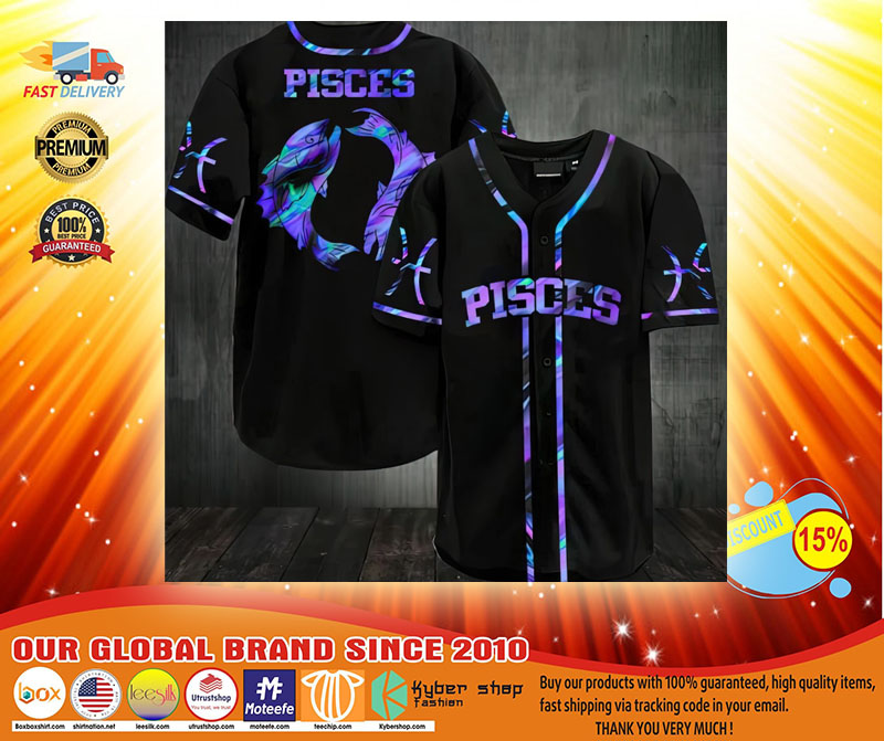Zodiac Pisces Baseball Jersey3