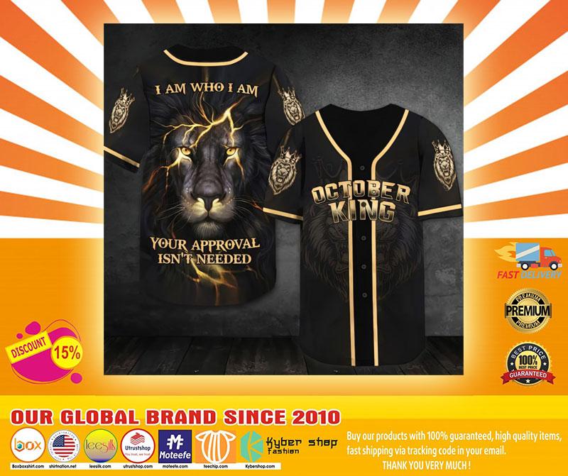 October lion king I am who I am Baseball Jersey4
