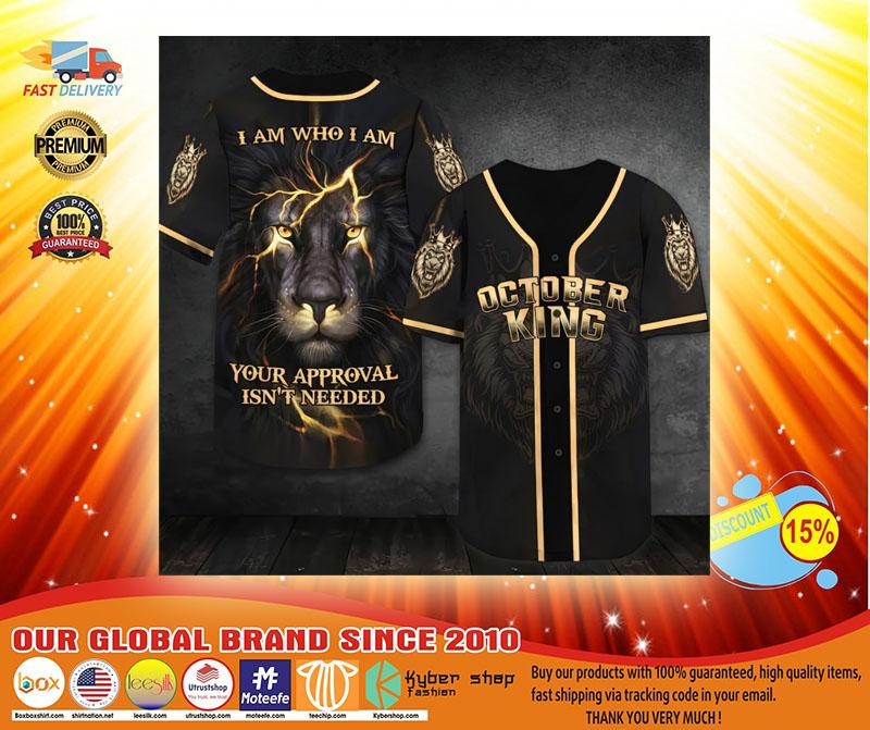 October lion king I am who I am Baseball Jersey3