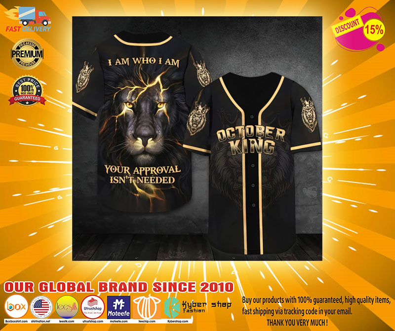October lion king I am who I am Baseball Jersey2