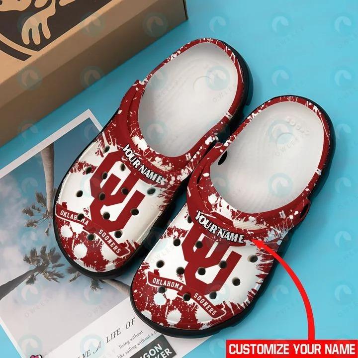 Oklahoma Sooners custom name crocs crocband clog4