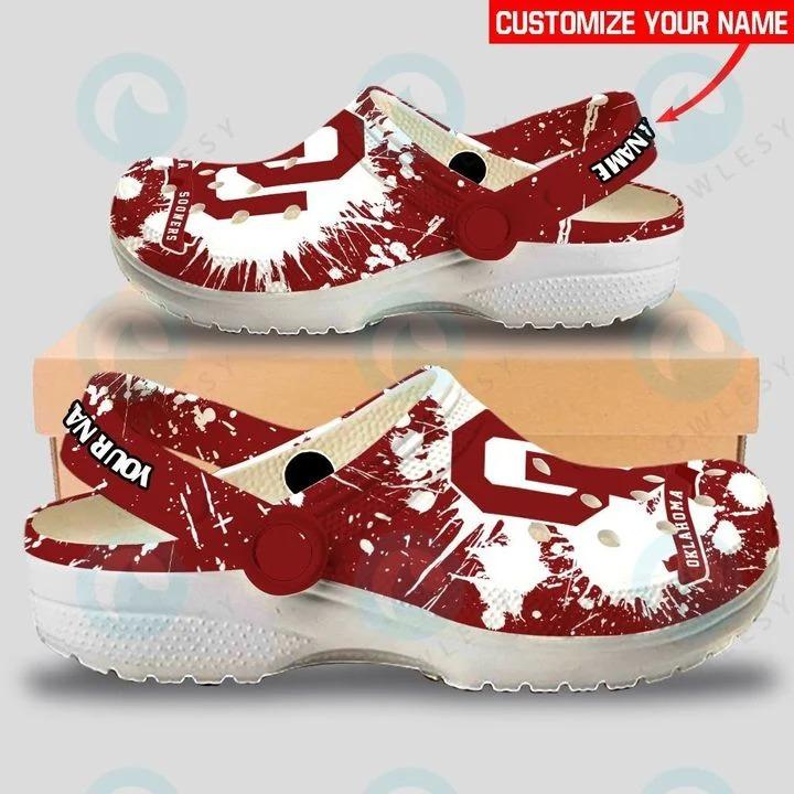 Oklahoma Sooners custom name crocs crocband clog2