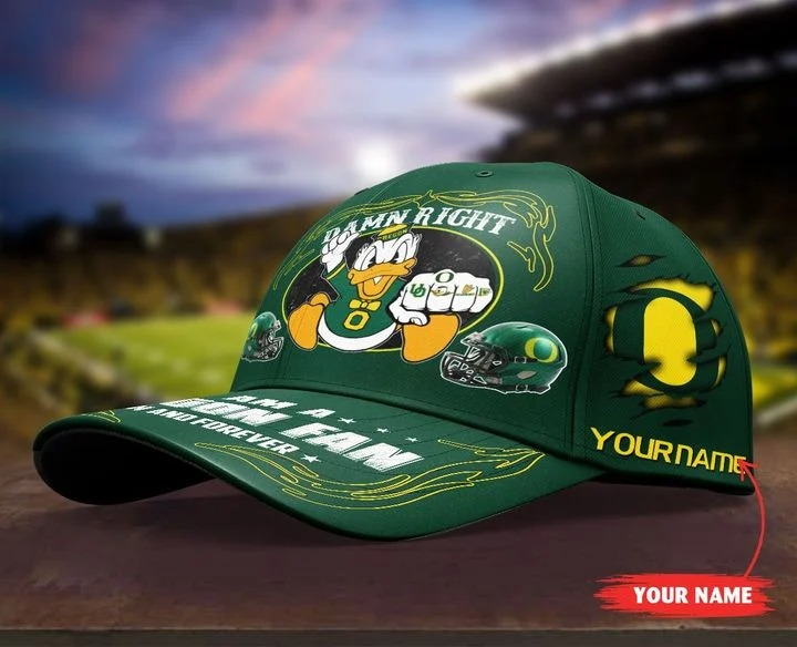 ORDU Damn right I am a Oregon Fan now and forever custom name cap4