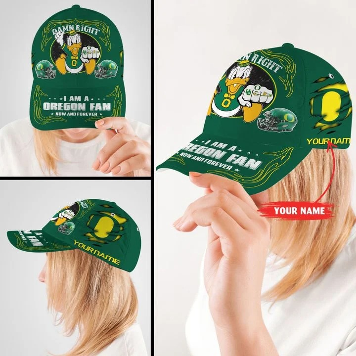 ORDU Damn right I am a Oregon Fan now and forever custom name cap2