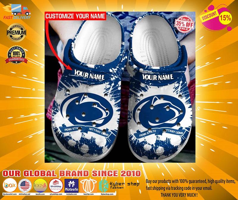 Penn State Nittany Lions custom name crocs crocband clog4