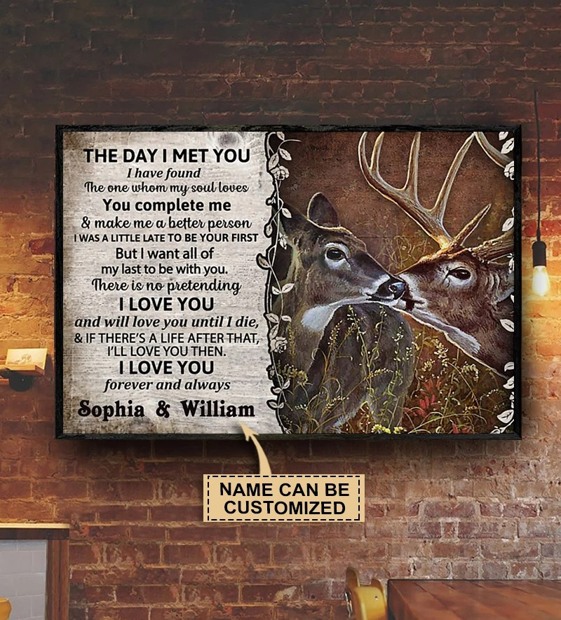 Personalized The day I met you deer custom name poster2