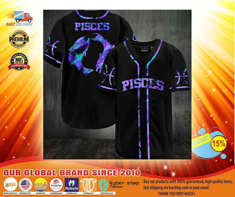 Pisces Baseball Jersey3