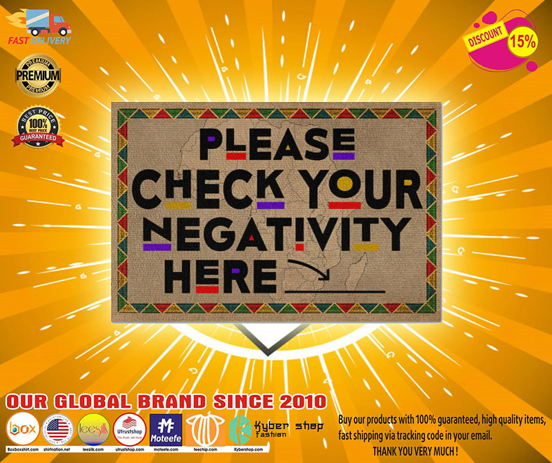Please check your negativity here doormat2