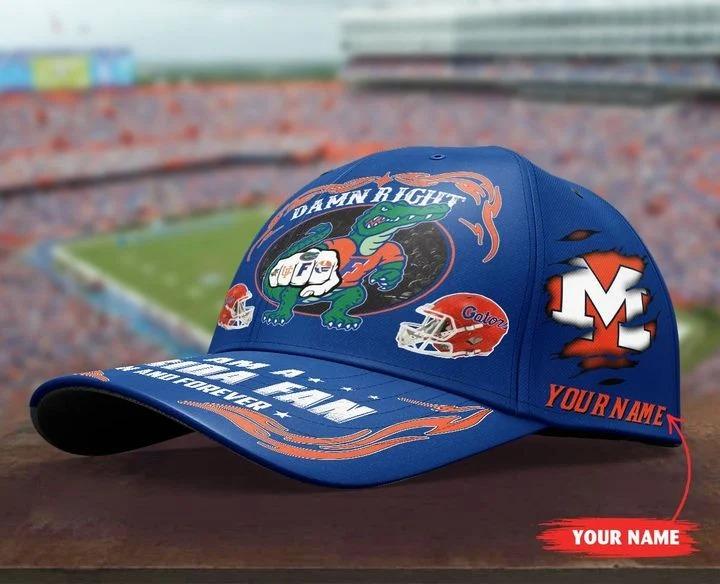 PLGA Damn right I am a Florida fan now and forever custom cap4
