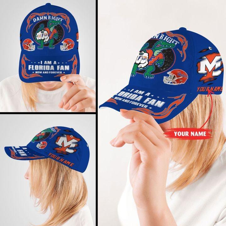 PLGA Damn right I am a Florida fan now and forever custom cap2