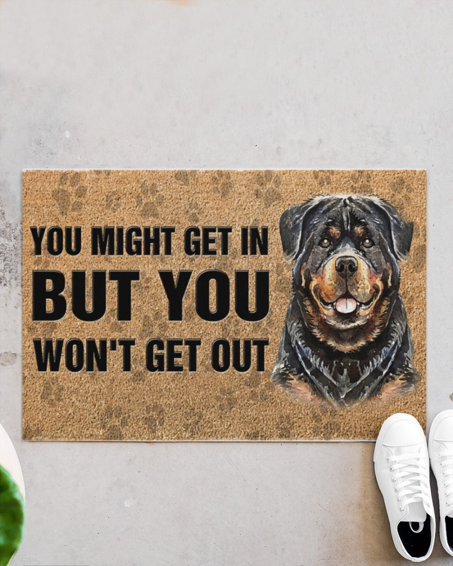 Rottweiler you might get in but you wont get out doormat3