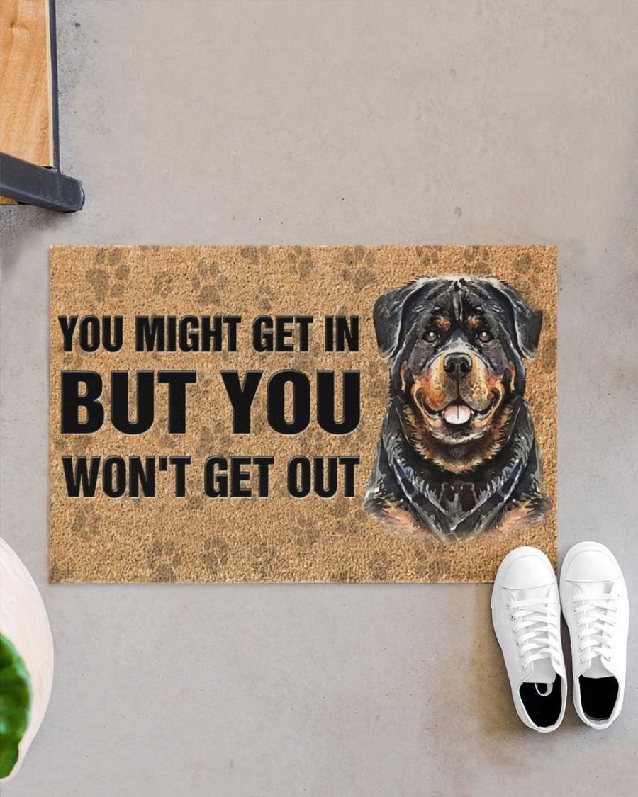 Rottweiler you might get in but you wont get out doormat2