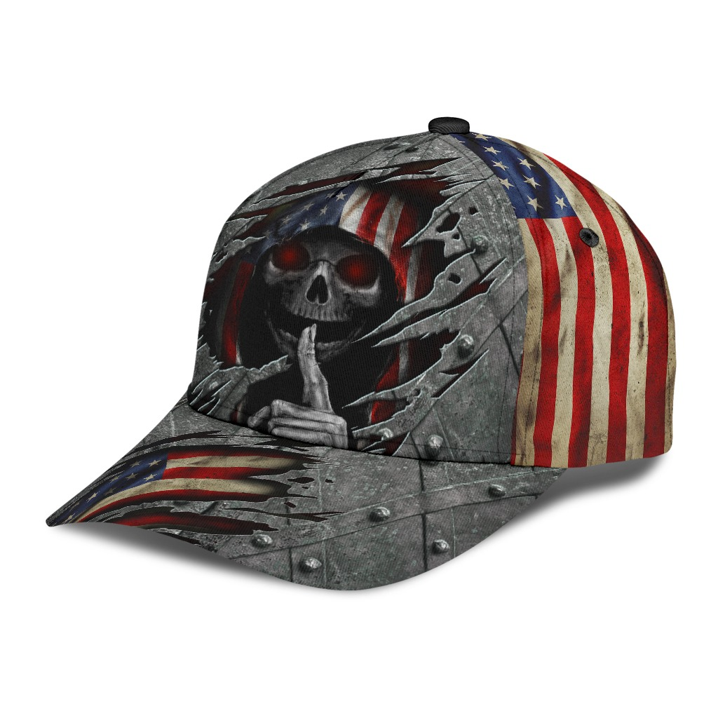 Skull American flag cap2