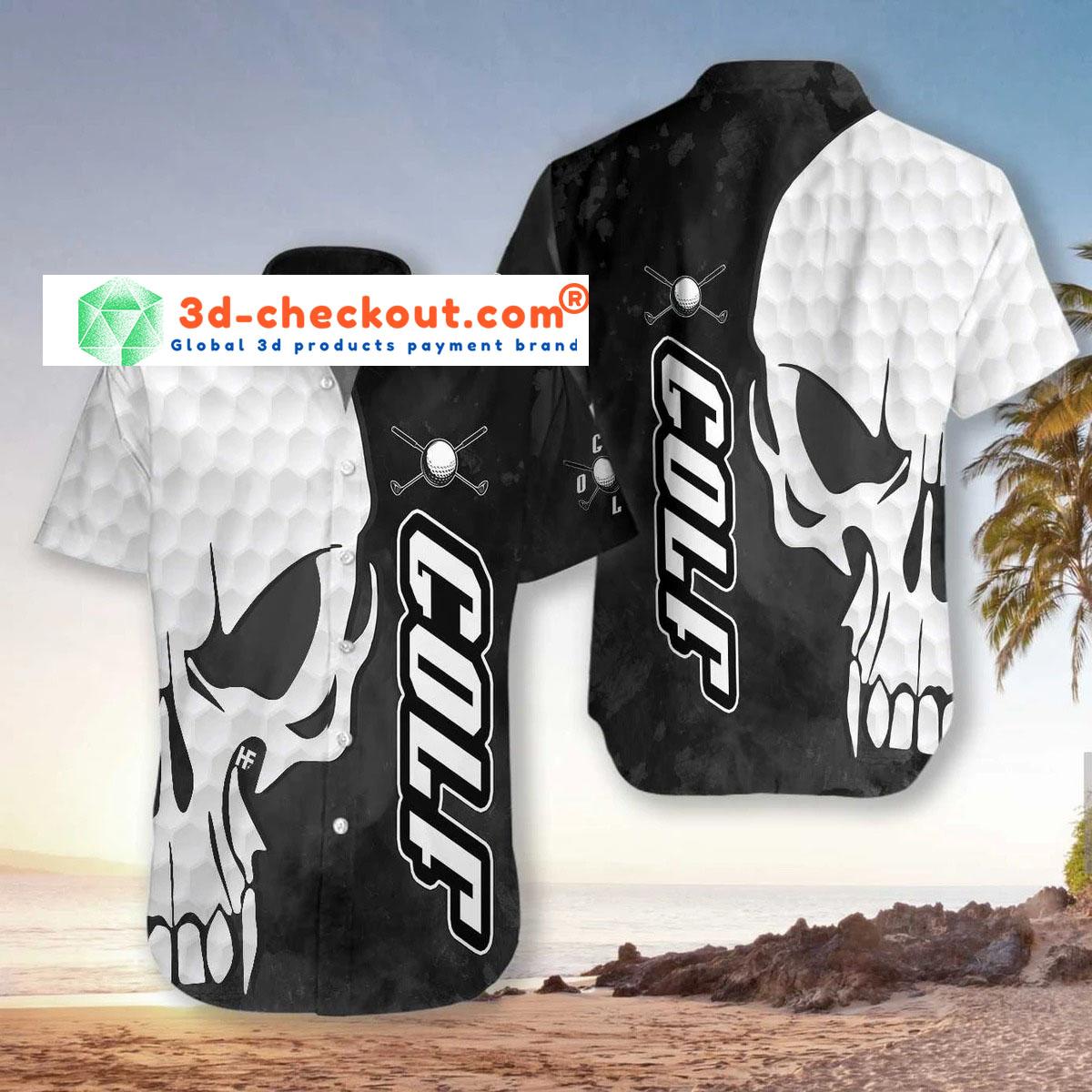 Skull Golf hawaiian shirt2