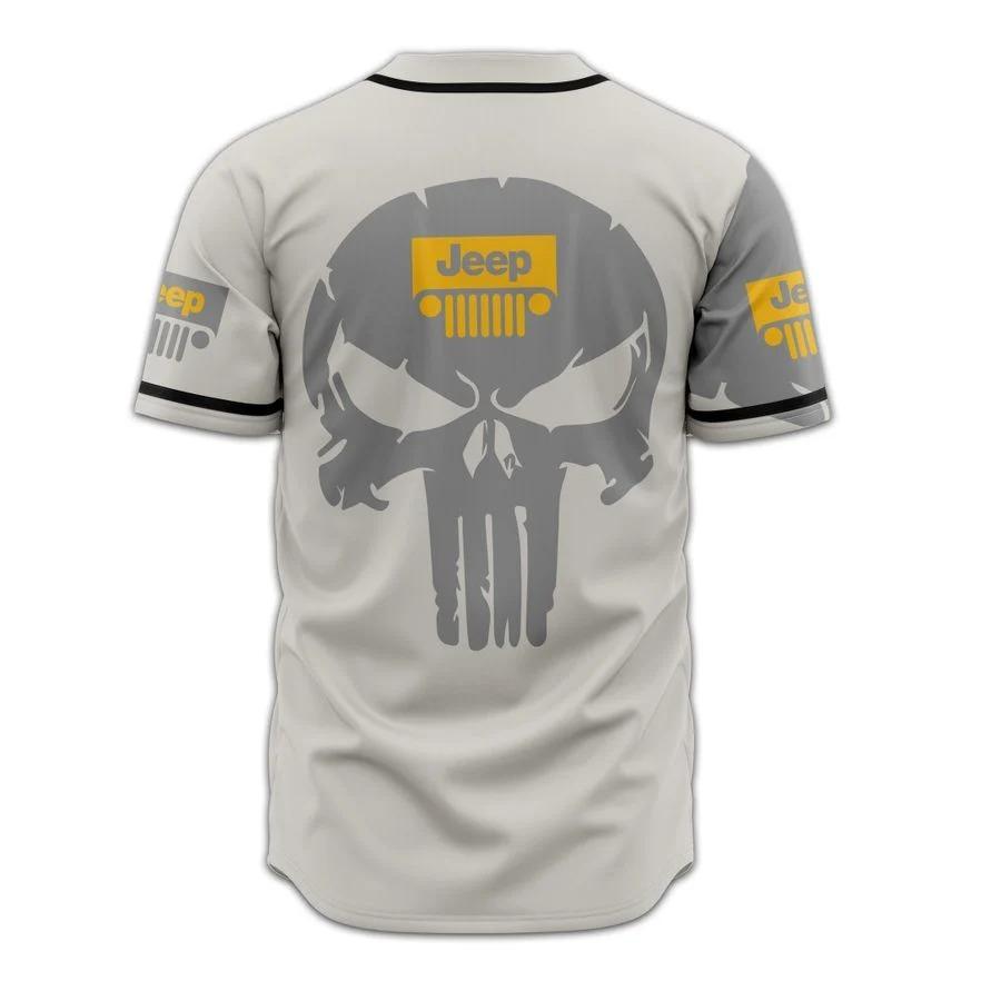Skull Jeep baseball jersey2