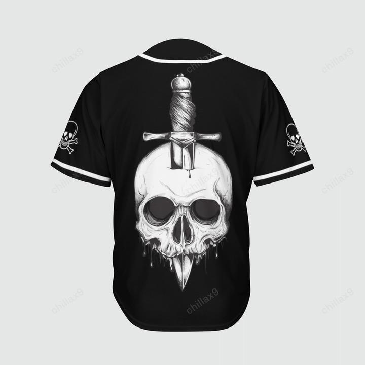 Skull ODGAF baseball jersey4