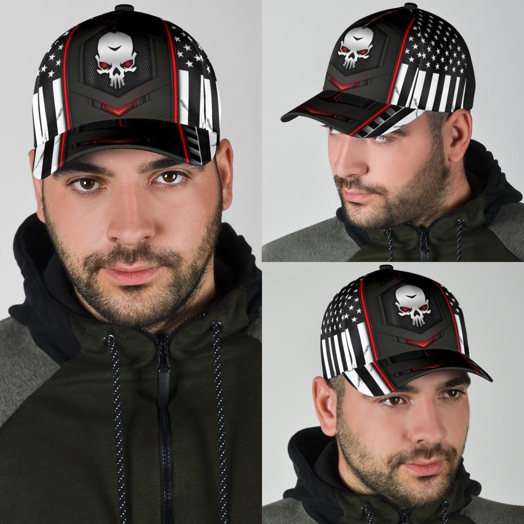 Skull red flag cap4