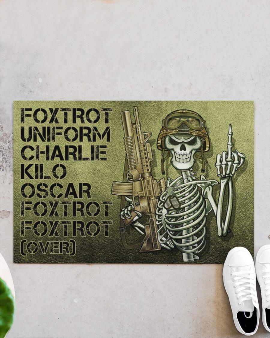 Skull Skeleton foxtrot uniform charlie kilo oscar foxtrot doormat4