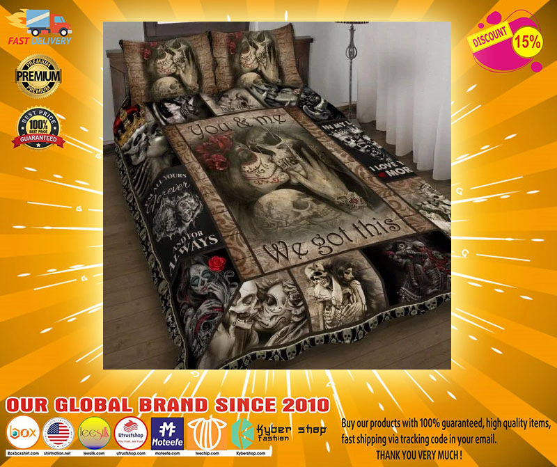 Skull You and me we got this quilt bedding set3