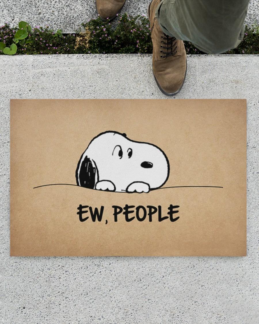 Snoopy doo Ew people doormat4