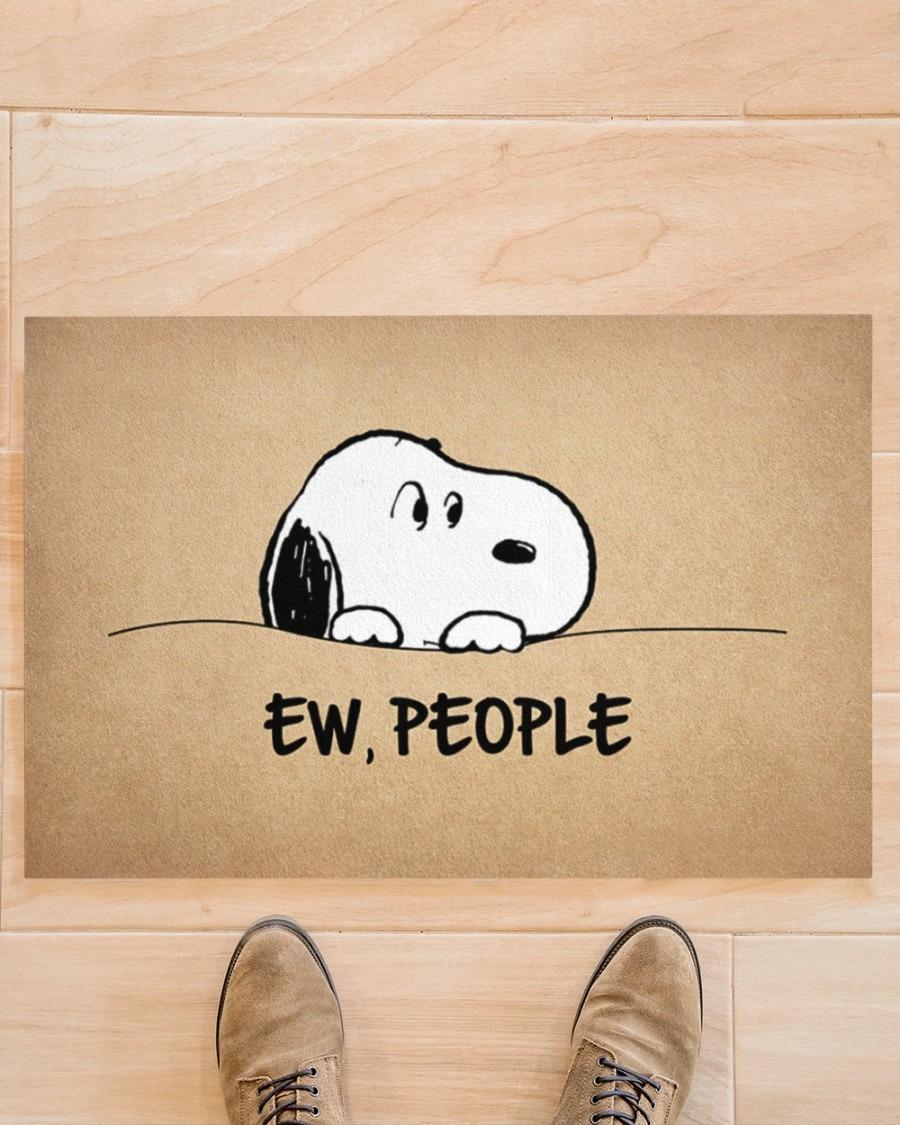 Snoopy doo Ew people doormat3