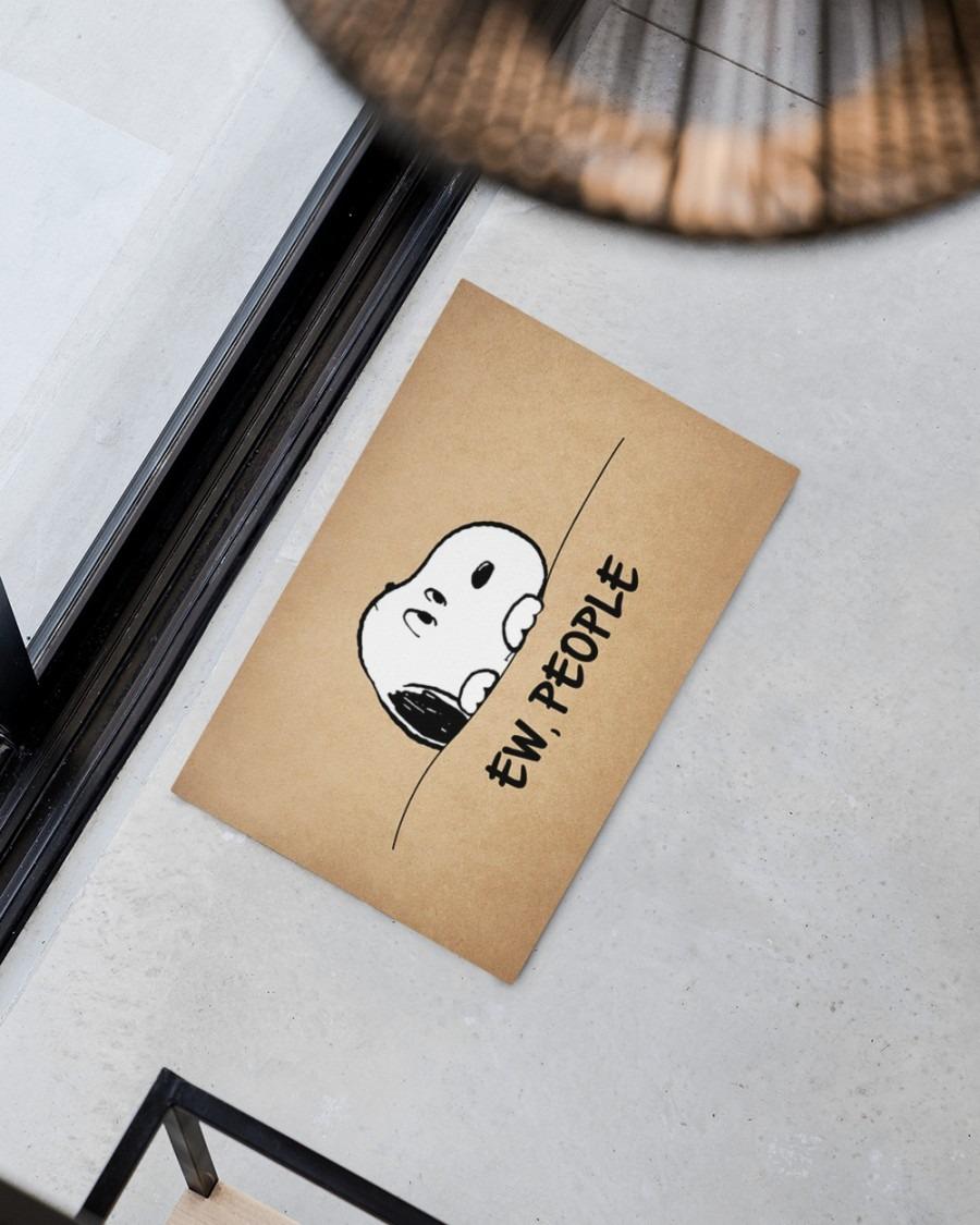 Snoopy doo Ew people doormat2