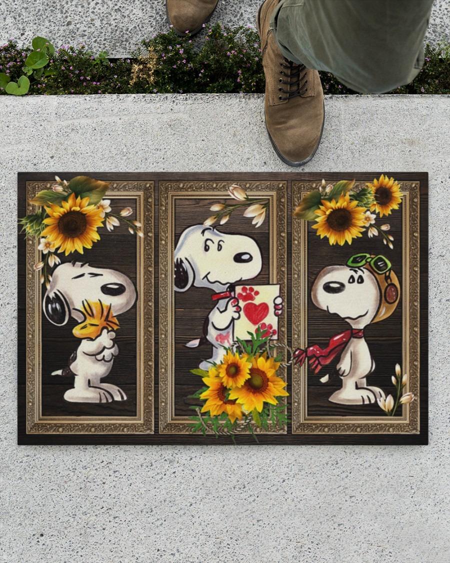 Snoopy doo sunflower doormat4