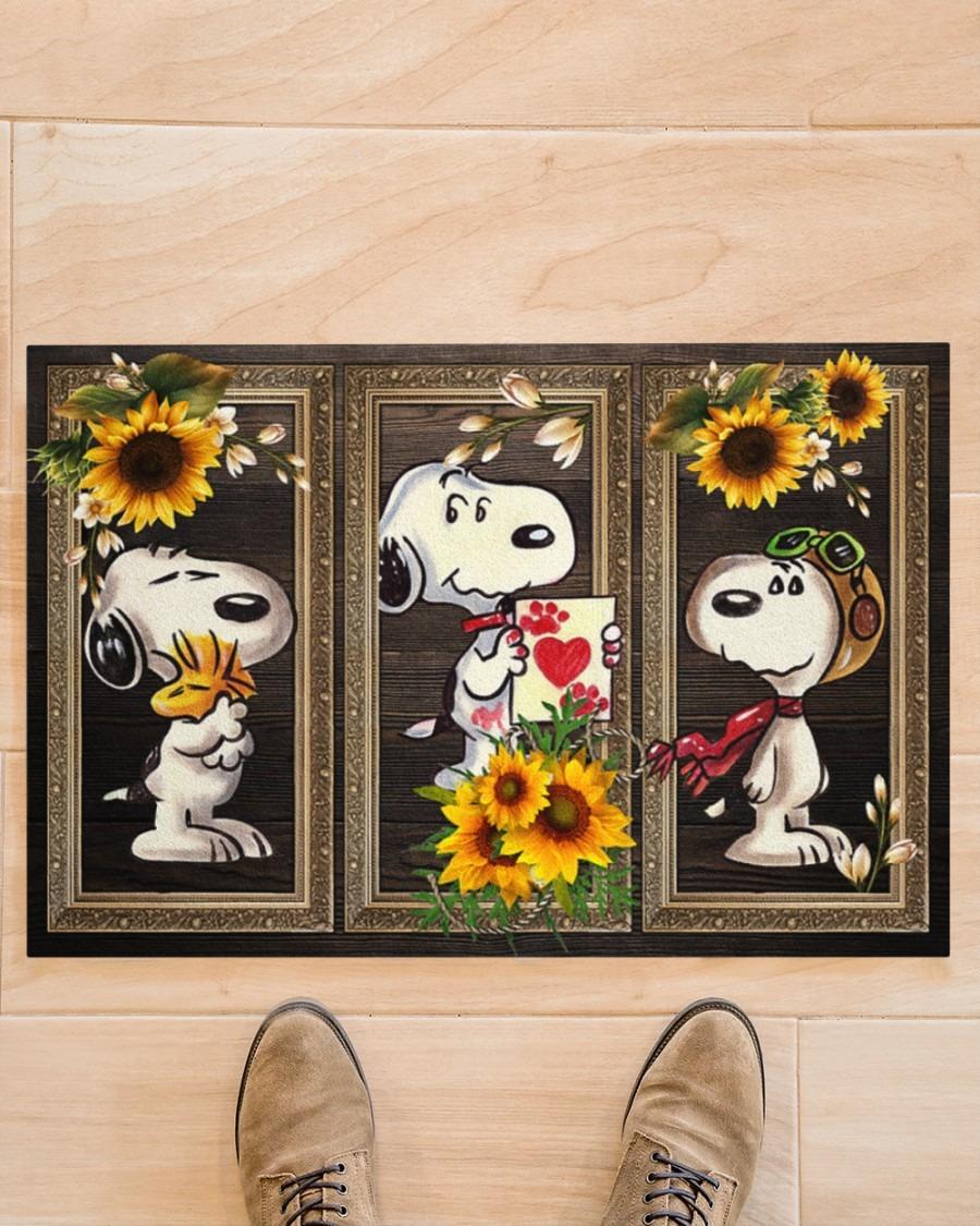 Snoopy doo sunflower doormat3