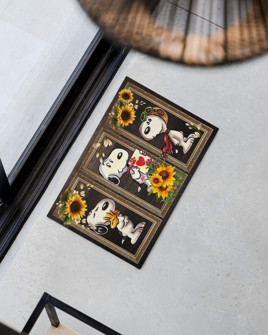 Snoopy doo sunflower doormat2