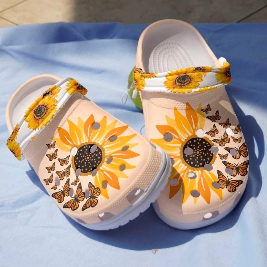 Sunflower butterfly crocs crocband clog4