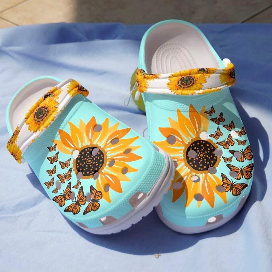 Sunflower butterfly crocs crocband clog3