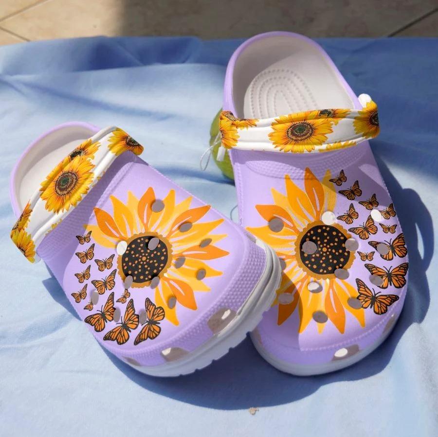Sunflower butterfly crocs crocband clog2