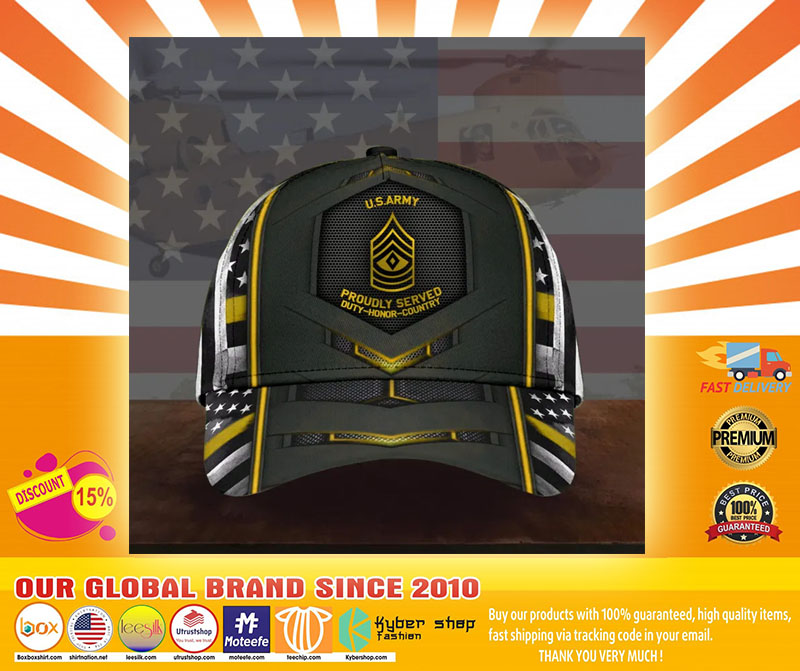US army proudly served duty honor country cap4