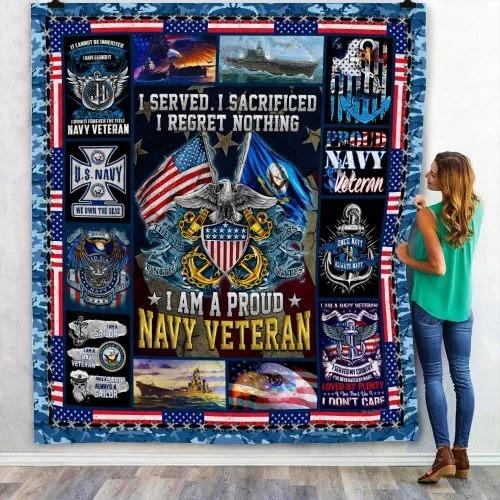 US Navy veteran I am a pround blanket4