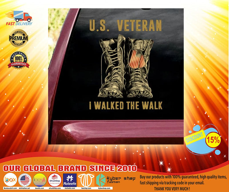 US veteran I walked the walk car decal3