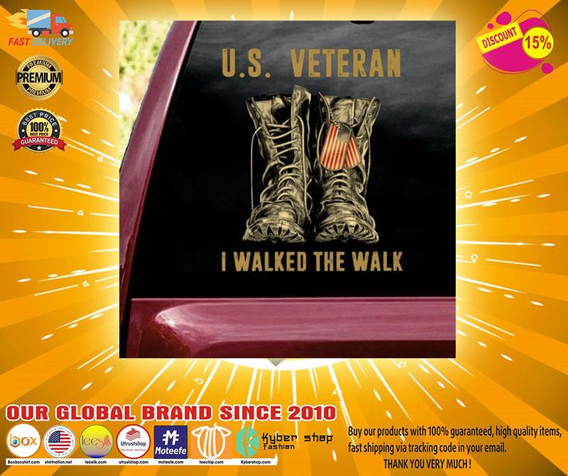US veteran I walked the walk car decal2