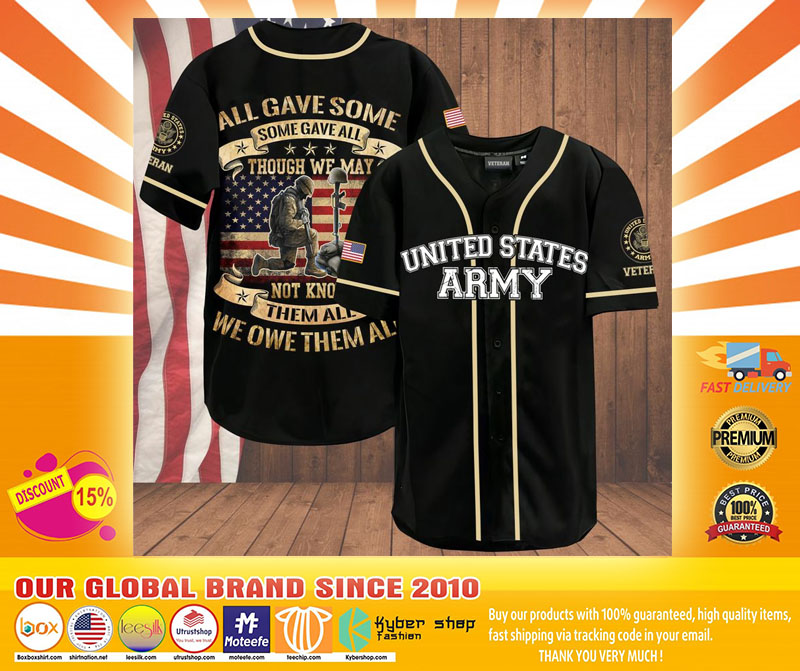Veteran all gave some some gave all American flag baseball shirt4