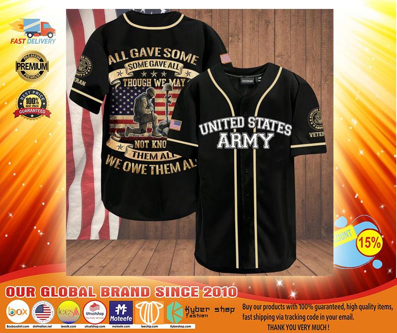 Veteran all gave some some gave all American flag baseball shirt3